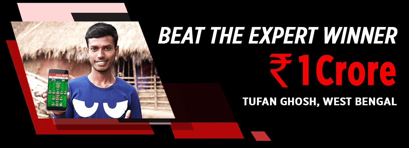 Beat The Expert Winner - Tufan Ghosh (Rs. 1 Crore)