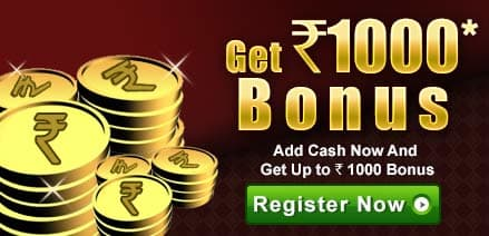 Play rummy online for cash & get Rs. 1000 bonus