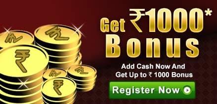Play rummy online for cash & get Rs. 1000 bonus