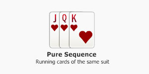 Pure Sequence in Indian Rummy