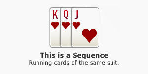 Sequence in Indian Rummy