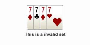 Example of Invalid Set