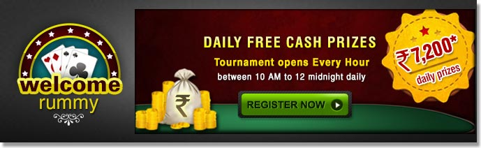 Welcome Rummy - Free Rummy Tournament With Daily Cash Prizes